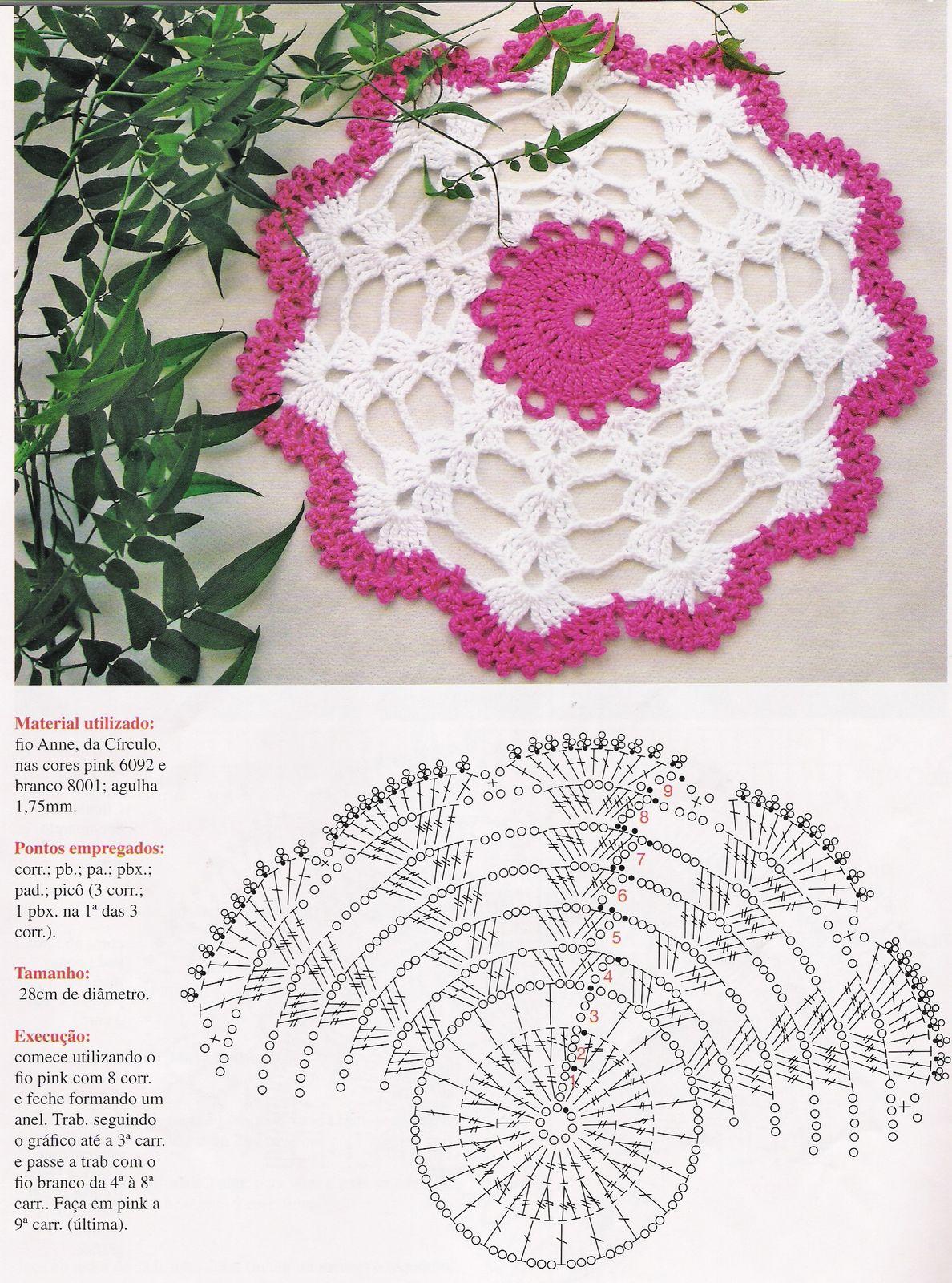 Вязание простой салфетки с описанием и 645